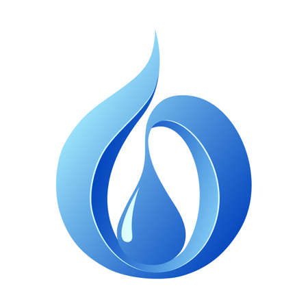 water pollution: Abstract water drop , icon template Illustration