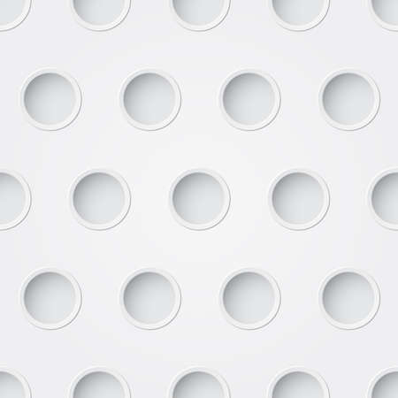 White seamless pattern with holes Vector