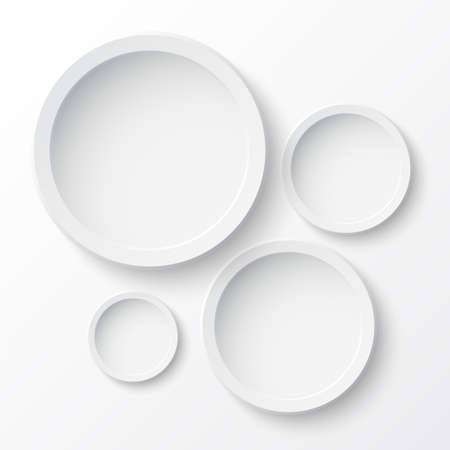 ellipses: Round paper banners  Perfect for your business presentations