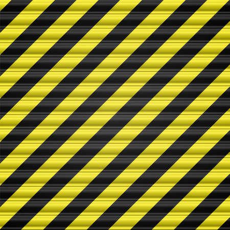 hazardous metals: Steel striped door shutter Illustration