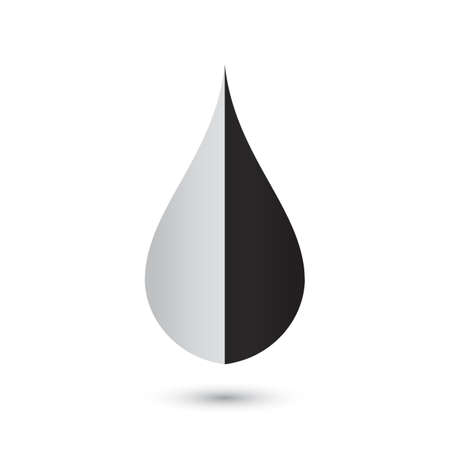 Abstract black drop icon Vector