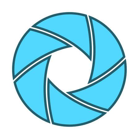 iris: Vector illustration of camera shutter