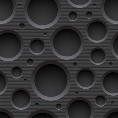 Seamless plastic background with holes Illustration