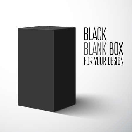 package sending: Black blank box  Vector illustration