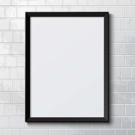 Realistic picture frame  Vector illustration