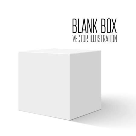 White blank box  Vector illustration