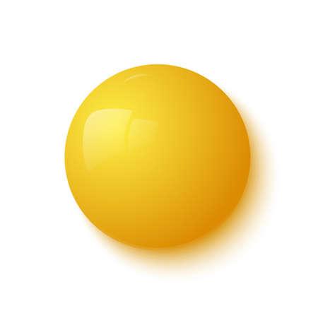 yellow: Yellow glossy button  Vector illustration