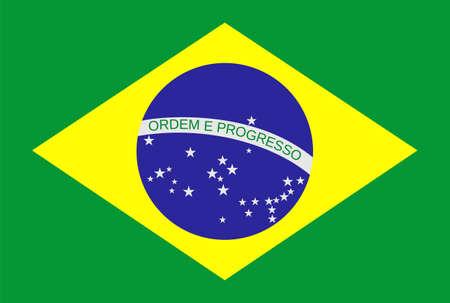 Drapeau du Brésil Vector illustration Banque d'images - 25125966