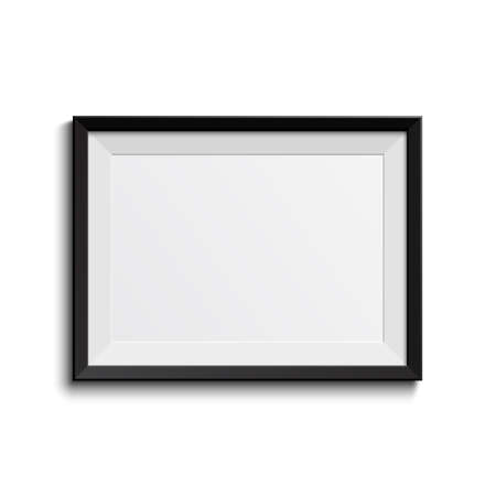 Realistic frame isolated on white background  Vector illustration Vector