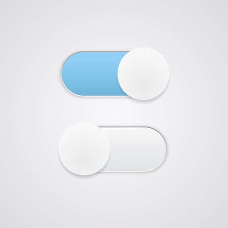 toggle: Toggle Switch On and Off position  Button  Vector illustration