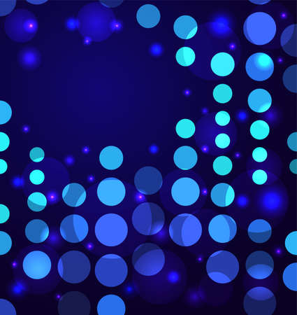 Abstract background with circles and particles  Perfect for your brochure  Vector illustration