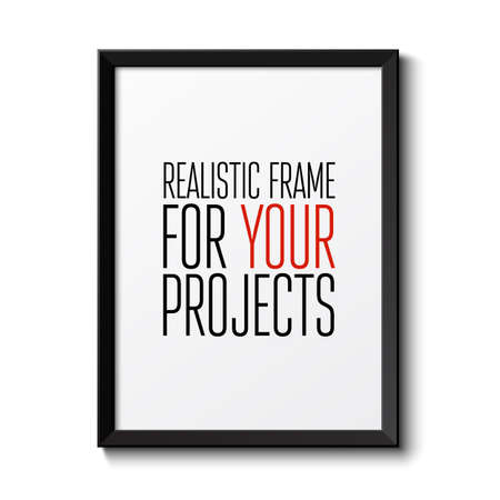 Realistic frame  Perfect for your presentations  Vector illustration Иллюстрация