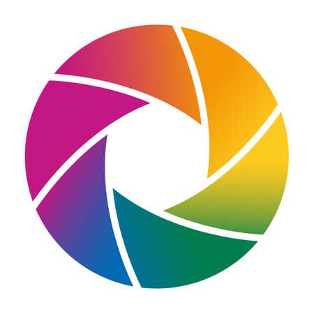 Colorful obturador de la cámara ilustración vectorial