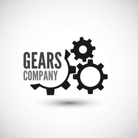 gear motion: Gear icon with place for your text  Vector illustration Illustration