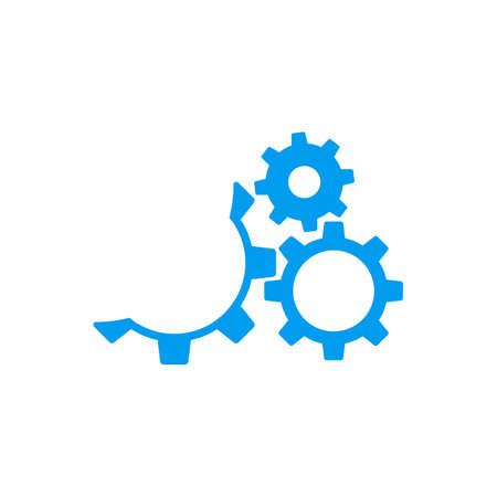 Icône engrenage avec la place pour votre texte Vector illustration