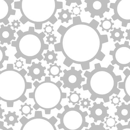 clockwork: Gears, seamless pattern  Vector illustration Illustration