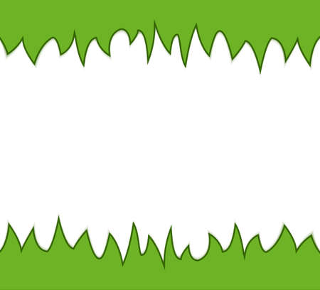Seamless simple green grass banner  Vector illustration Vector