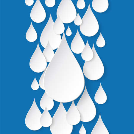 Paper water drop abstract background  Perfect for your business presentations  Vector illustration Vector