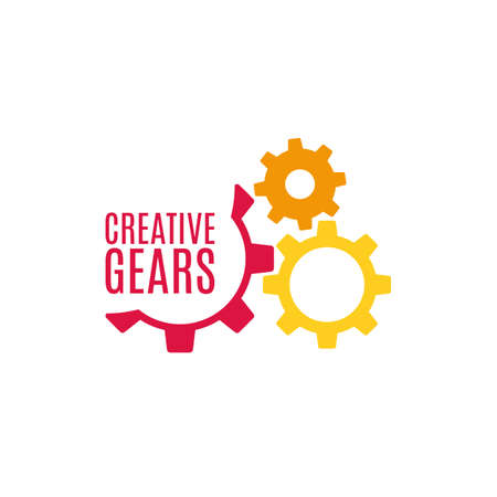 spinning wheel: Gear icon with place for your text  Vector illustration Illustration