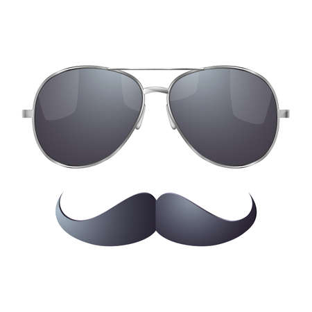 Sunglasses with mustache Stock Vector - 27156957