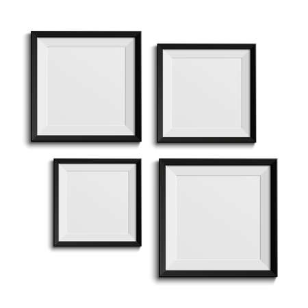 Realistic picture frames  Perfect for your presentations   Illustration