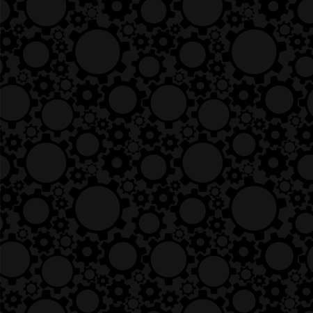 Gears, seamless pattern  Vector