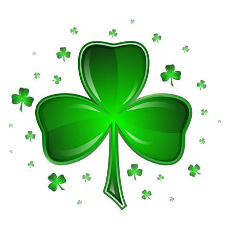 Shamrock vector illustration, isolated on white background   Vector
