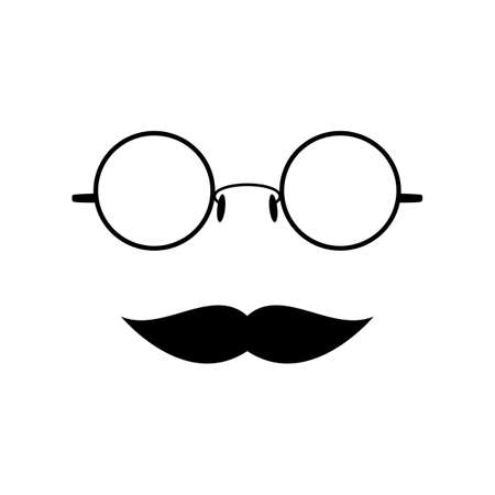 Glasses with mustache Stock Vector - 27157260