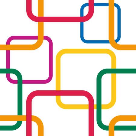 カラフルな正方形のシームレス パターン