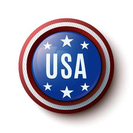 USA round icon   Vector