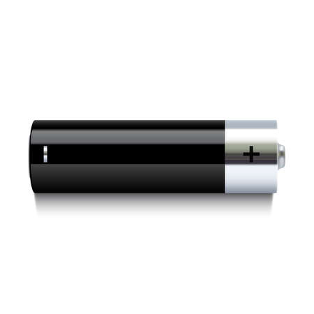 alkaline: Realistic battery icon isolated on white background  Vector illustration Illustration