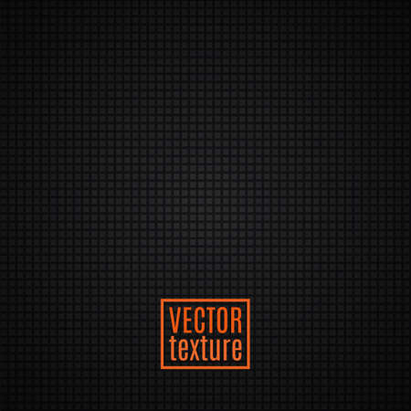 Black textured background Vector illustration