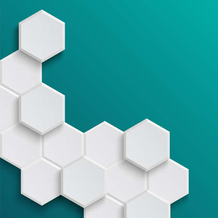 Abstract hexagonal background  Vector illustration Vector