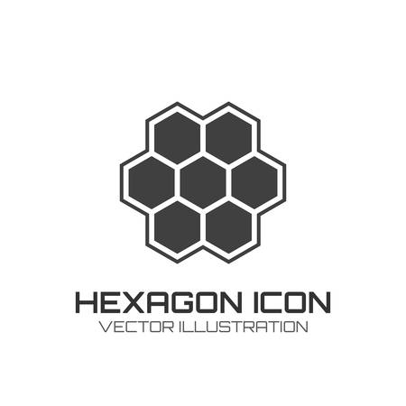 Hexagon icon isolated on white background  Vector illustration Vector
