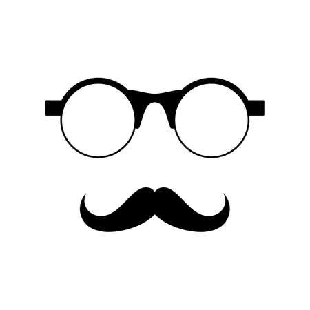 Glasses with mustache  Vector illustration