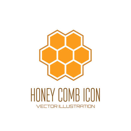 Honey comb icon  Vector illustration Banco de Imagens - 27359328