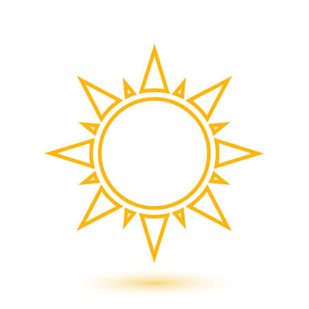 rise and shine: Simple illustration of abstract sun  Vector illustration