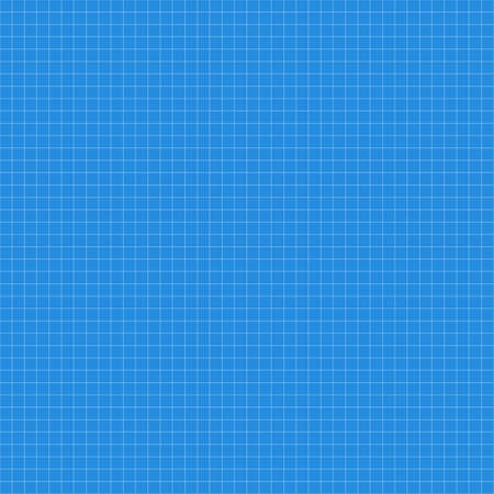 Blue squared paper seamless texture, background  Vector illustration Vector