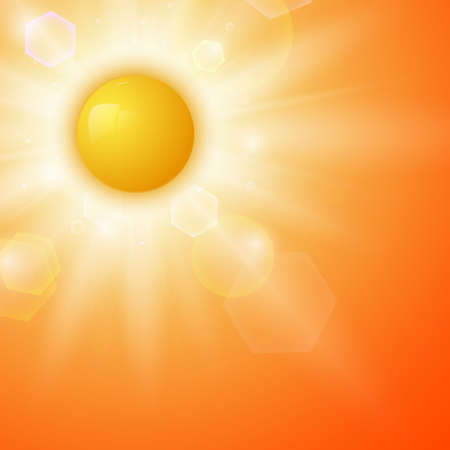 blinding: Summer background with a sun  Vector illustration Illustration