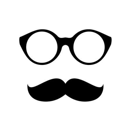 protective spectacles: Glasses with mustache  Vector illustration