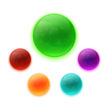 glossy buttons: Set di lucido colorato pulsanti vettore Vettoriali