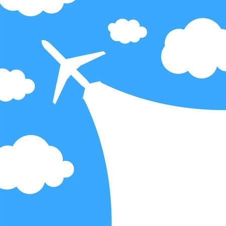 airplane ticket: Abstract background with airplane and clouds  Vector illustration