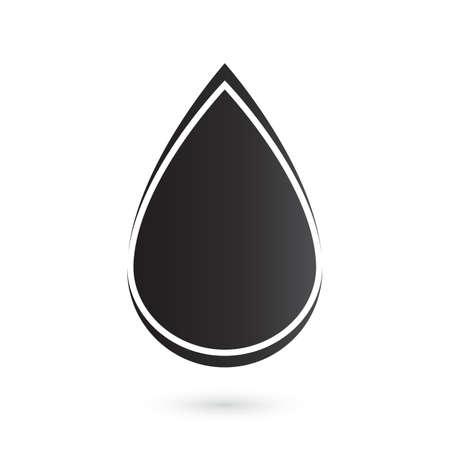 Abstract drop icon  Vector illustration Vector