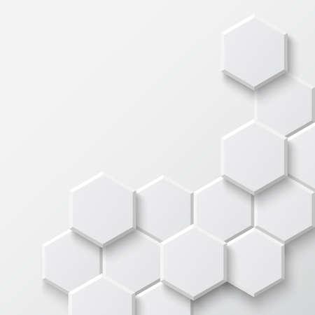 Fondo hexagonal Vector Ilustración abstracta