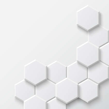 Abstract hexagonal background  Vector illustration