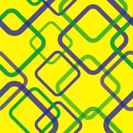 brasil: Geometric seamless pattern in Brazil flag concept  Vector illustration
