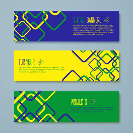 Set of Brazil concept color banners  Vector illustration Vector