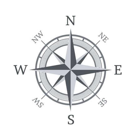 Kompas pictogram op een witte achtergrond Vector illustratie Stock Illustratie