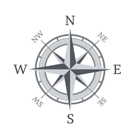 Compass icon isolated on white background  Vector illustration