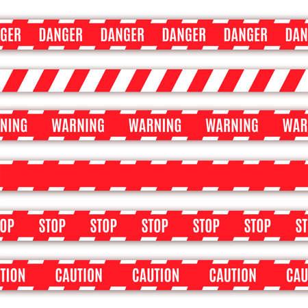 csi: Conjunto de ilustraci�n vectorial cintas de advertencia